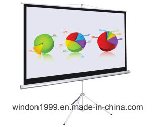 "Factory Price 60X60"" Tripod Projection Screen pictures & photos"