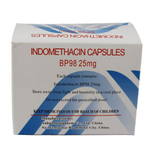 Indomethacin Capsules, Bp98 25mg, 10X10′s/Box, Western Medicine pictures & photos