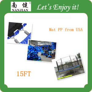 Hot Sale High Quality Outdoor Fitness Gymnastic Bungee Trampoline for Sale with Safety Net for Kids pictures & photos