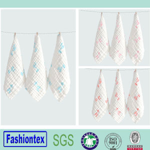 Wholesales Washer Wrinkle Fabric Muslin Baby Handkerchief pictures & photos
