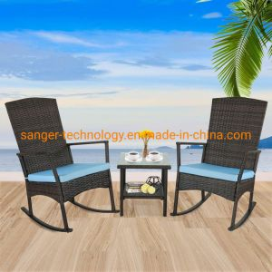Outdoor 3 Piece Wicker Rocking Chair