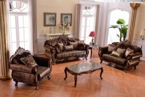 China Solid Wood Sofa Sets Luxurious