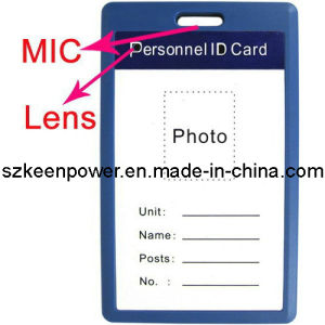 Blue Color Work Permit ID Card Mini Hidden Camcorder pictures & photos
