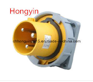 Panel Mounting Straight Socket Hy 5332-4h Industrial Socket and Plug pictures & photos
