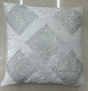 Hand-Made Decorative Cushion Hand-Sewing Diamond-Tape Pillow (XPL-23) pictures & photos