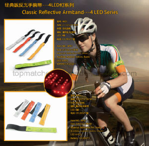 4 LED Series Classic Reflective Armband for Promotion Gift pictures & photos
