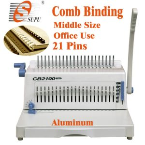 Manual Plastic Comb Binding Machine for Book Punching/Binding (CB2100) pictures & photos