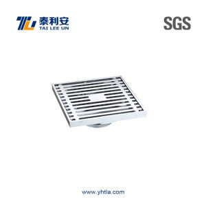 Decorative Chrome Plated Brass Floor Drain (T1054)