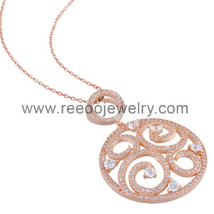China unique silver pendant designs rose gold plating silver round unique silver pendant designs rose gold plating silver round pendant aloadofball Image collections