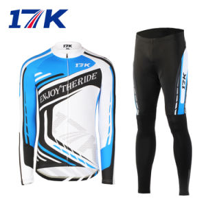 17k Long Men Wholesale Cyclling Apparel with Sublimation Printing