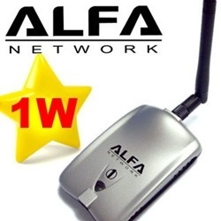 Awus036h Alfa Networks 1000mw USB WiFi Wireless USB Adapter with Rtl8187L  Chipset