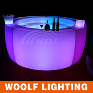 New Design Color Changing Modern Plastic LED Bar Table