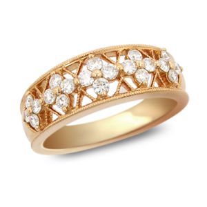 Top Seller 925 Sterling Silver Ring Jewelry Gold Plated with AAA CZ