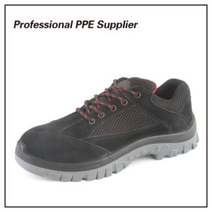 Black PU Injection Steel Toe Brand Safety Shoes pictures & photos