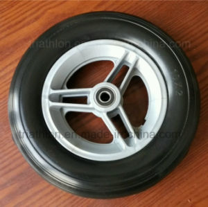 10X1.75 10X2 10X2.125 10X3 10X5.5 Ribbed Flat Free PU Foam Tires with Plastic Spoked Rim