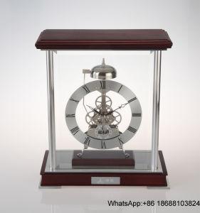 Golden Metal Skeleton Mantel Desk Clock