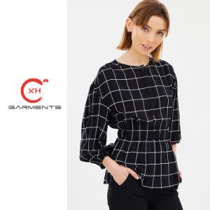 4d46e0adfbf6 China Xh Garments Mono Check Ladies Long Tops - China Ladies Long ...