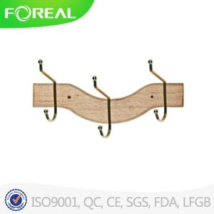 3 Hooks Fashionable Luxury Wood Hanger for Clothes