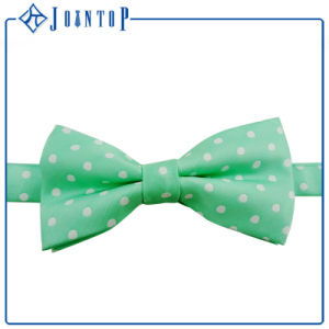 100% Silk Polka DOT Adjustable Bow Woven Tie pictures & photos