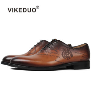 69a5b1661d1 China Vikeduo Men Shoes Mens Oxford Shoes Laser Printing Dress Shoes ...