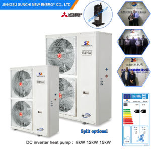 Evi Tech -25c Winter Floor Heating 120sq Meter Room 12kw/19kw/35kw Auto-Defrost High Cop Most Efficient Heat Pumps Split System pictures & photos