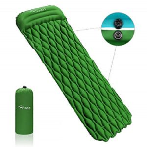 China Self Inflating Backpacking Air Mattress Camping Mattress With Attached Pillow China Inflatable Mattress And Camping Mat Price