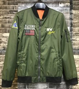 Fashion Green Men′s Flying Jacket with High Quolity Embroider pictures & photos