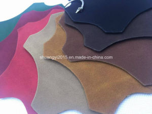 Yangbuck PU Suede Leather for Shoes pictures & photos