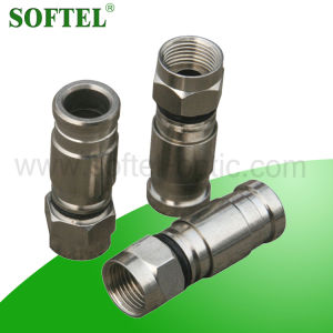 Suitable for RG6/Rg59 Coaxial Cable Compression F Connector pictures & photos