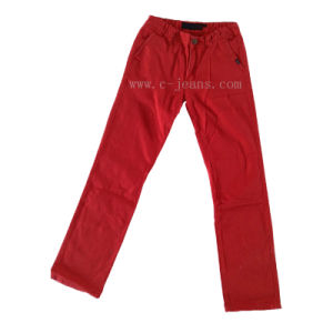 Men Casual Size 38 Red Trousers (CFJ058)