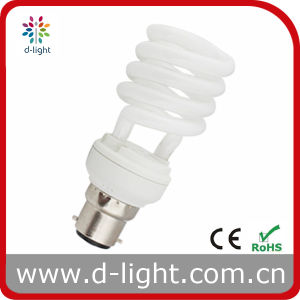 18W B22 T2 Spiral Compact Fluorescent Lamp
