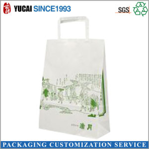 Flat Paper Handle Kraft Paper Bag for Shopping pictures & photos