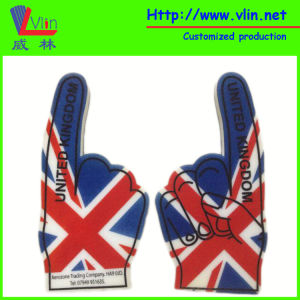 One Finger Foam Hand with National Flag and Logo
