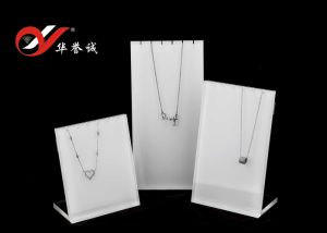 3PCS Set L Shape Necklace Display Stand with Screw at Behind pictures & photos