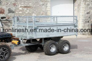 1500kgs/1.5t Hydraulic Tipping ATV Cargo Trailer/Quad Cargo Trailer/UTV Cargo Trailer/Log Trailer/Farm Trailerr/Dump Trailer with Box Extensions Ce pictures & photos