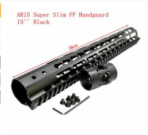 "15"" Inch Free Float Nsr Keymod Handguard Mount Bracket with Detachable Rail Black Barrel Nut for Ar-15 M4 M16"