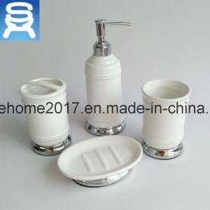 Hot Chrome Plating Porcelain Bathroom Accessories Sets, Ceramic Bathroom Set