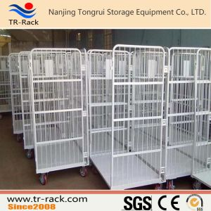 Steel Foldable Logistic Table Trolley for Warehouse Storage pictures & photos