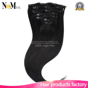 #613 Color Silky Straight Blonde Clip in Human Hair Extensions pictures & photos