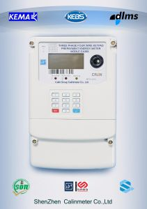 Three Phase Four Wire Electrical Kwh Keypad Energy Meter pictures & photos