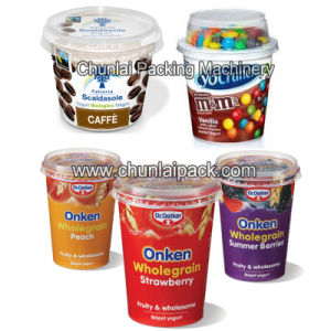 Yogurt Cup Filling Sealing Machine with Plexi Glass Cover pictures & photos