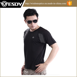 Esdy Round Neck Short Sleeve Men T-Shirt Outdoor pictures & photos