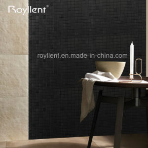 Royllent Wholesale Factory Interior Mosaic Black Color Self Adhesive ACP Mosaic Tiles 4mm 5mm Brush Surface