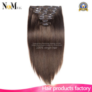 Full Head Virgin Brazilian Human Hair Premium 613 Blond Clip in Hair Extension pictures & photos