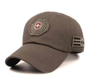 High Quality Woven Badge Cotton Cap
