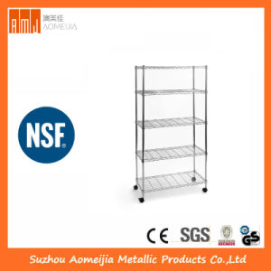5  Tiers  Metal  Wire  Display  Shelf/Rack  for  Shop Mall