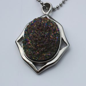 Jewelry Making Plated Druzy Agate Pendants Druzy Pendant Crystal pictures & photos