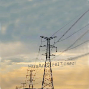 Electric Power Transmission Galvanized Angular Lattice Steel Tower
