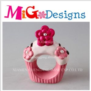 Wholesale Flower Porcelain Cupcake Napkin Canister pictures & photos