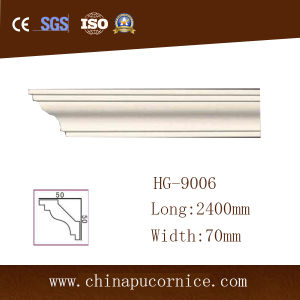 7cmhigh Quality Bright Surface Plain PU Cornice Moulding Replace of Gypsum Moulding